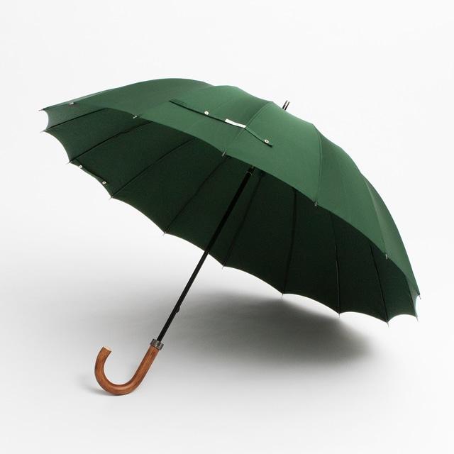 日本橋小宮商店 ミラトーレ 高撥水生地 長傘 65×16 グリーン【2020HRD】