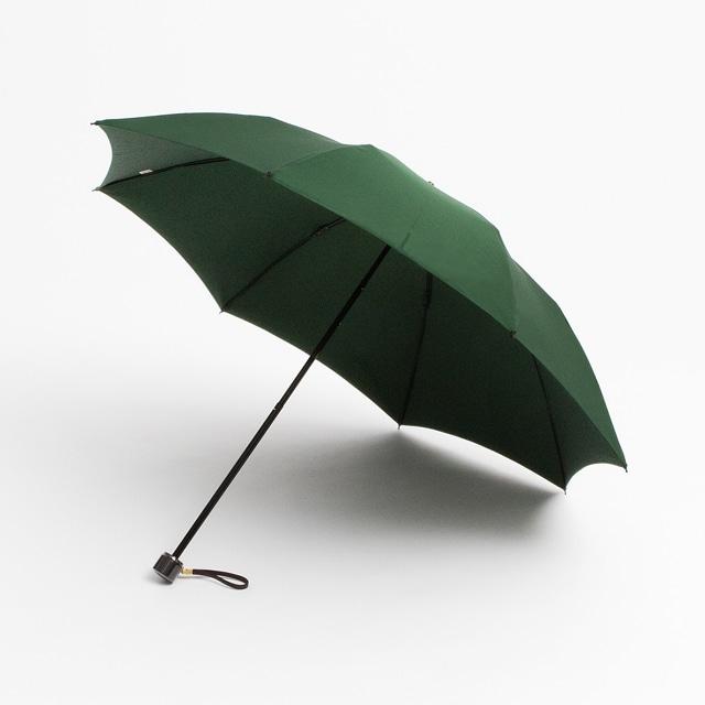 日本橋小宮商店 ミラトーレ 高撥水生地 折傘 50×8 グリーン【2020HRD】