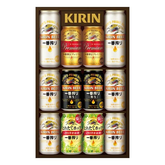<2019冬ギフト>一番搾り4種飲みくらべセット プレミアム・黒ビール・とれたてホップ入り K-IPFT3