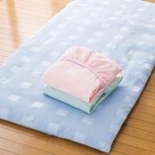 ■泉州産ワッフル織りボックスシーツ和式用シングル (全3色)