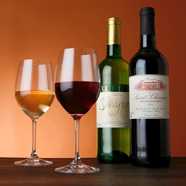 フランスワイン ソーヴィニヨン・サンシニアン2本セット 送料込 赤白セット