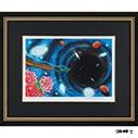 松本零士「漆黒の世界へ」 傘寿記念直筆サイン色紙付