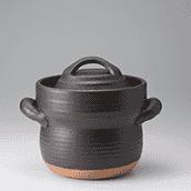 笠間焼なかむら陶房IH オールメタル対応 炊飯用耐熱土鍋 二合