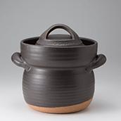 笠間焼なかむら陶房IH オールメタル対応 炊飯用耐熱土鍋 五合