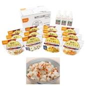 家庭用保存食アルファ米セット 12食セット+保存水6本 和風メニュー