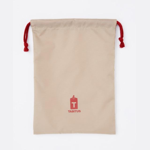 TABITUS(タビタス) ワイシャツケース&ネックポーチ(1枚用) ボルドー