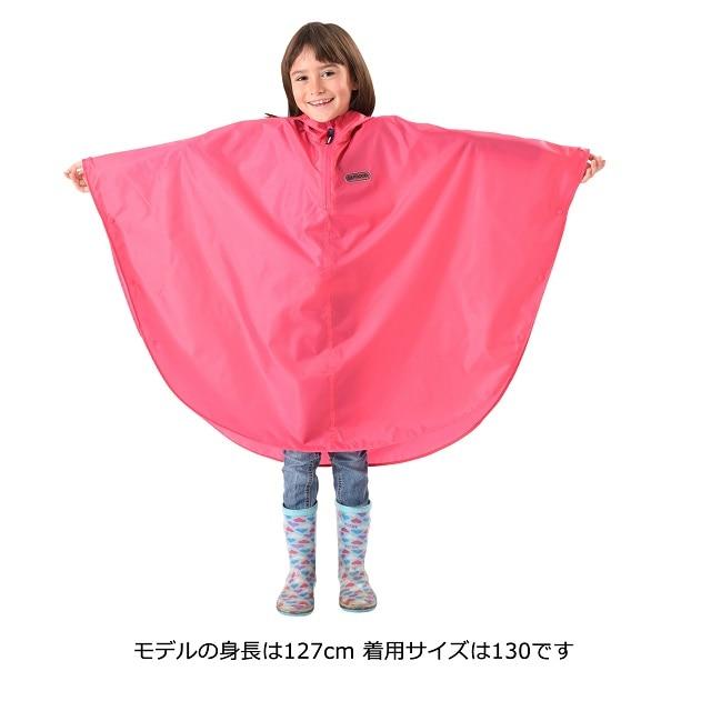 OUTDOOR PRODUCTS(アウトドアプロダクツ) 子供用 レインポンチョ ピンク 140 135〜145cm