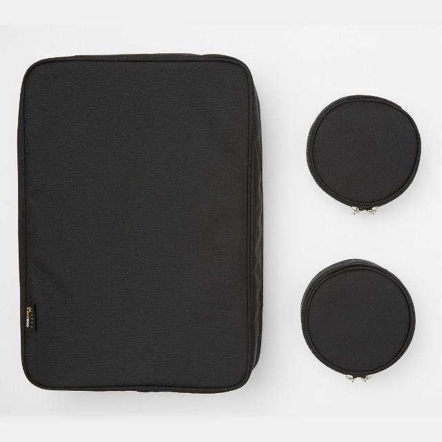 TABITUS(タビタス) ワイシャツケース&ネックポーチ(2枚用) ブラック