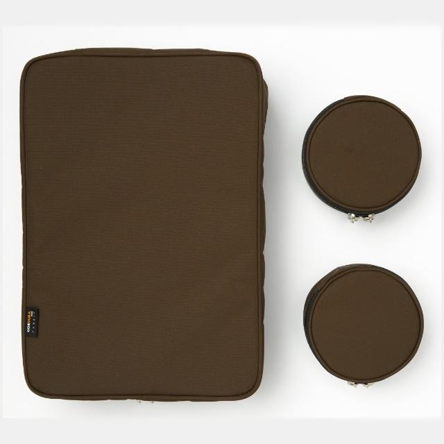 TABITUS(タビタス) ワイシャツケース&ネックポーチ(2枚用) ブラウン