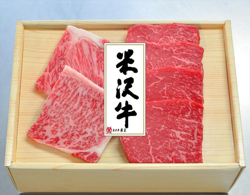 米沢牛黄木 米沢牛ステーキセット(ロース・モモ)送料込