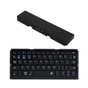 スマホ連動スタンド一体型二つ折りキーボード ブラック (全2色)