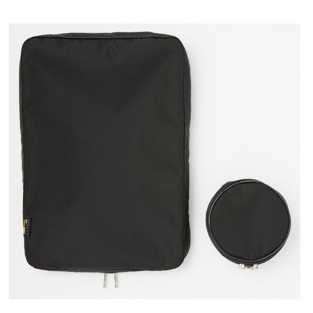 TABITUS(タビタス) ワイシャツケース&ネックポーチ(1枚用) ブラック