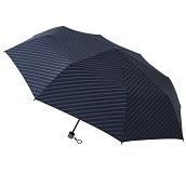 【在庫限り】FLOATUS 超撥水耐風仕様大寸折りたたみ傘ストライプディープブルー