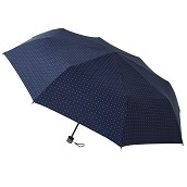 FLOATUS 超撥水耐風仕様大寸折りたたみ傘ドットディープブルー