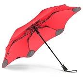 ブラント XS メトロ 折りたたみ傘 オートオープン レッド 6本骨 51cm グラスファイバー骨 台風傘 A2457-40