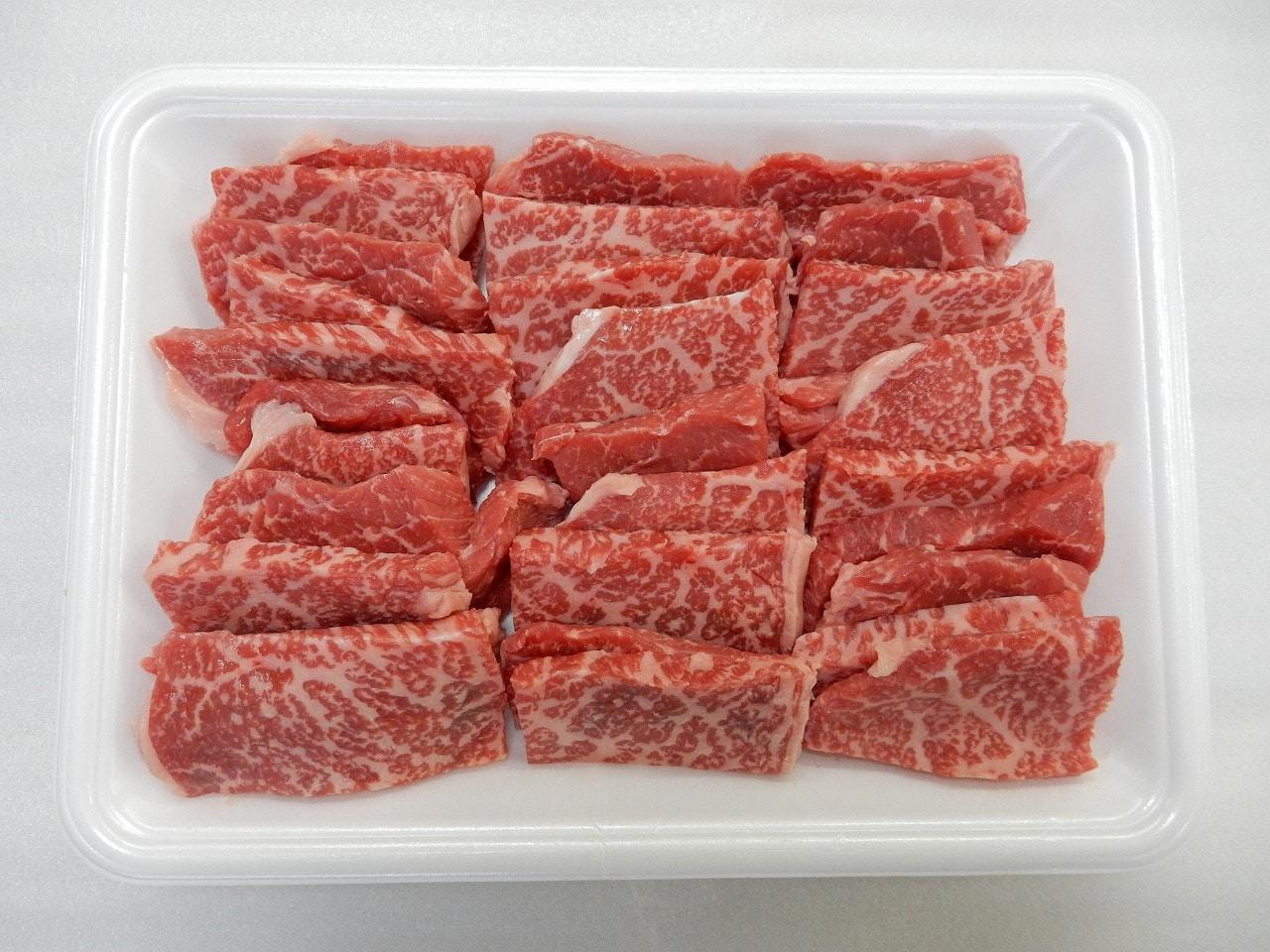 宮崎牛焼き肉用 (モモ肉)500g 送料込