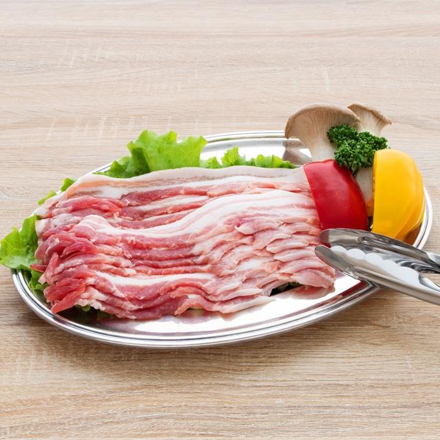 白金豚バラうす切り500g×2 焼肉用4〜5人前 送料込