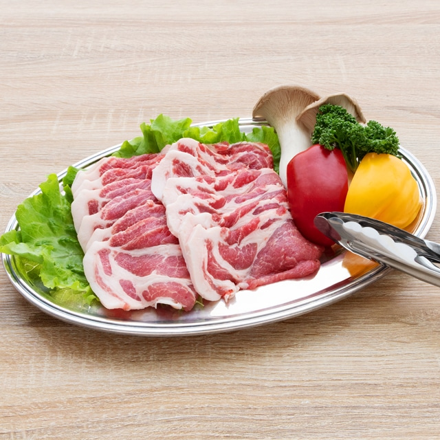 白金豚カタロースうす切り500g×2 焼肉用4〜5人前 送料込