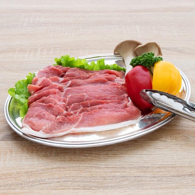 白金豚モモスライス焼肉用500g×2 焼肉用4〜5人前 送料込
