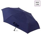 urawaza 形状記憶 折りたたみ軽量ミニ傘 ネイビー