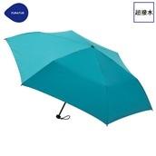 FLOATUS 超撥水傘無地 折りたたみ傘 ターコイズブルー