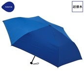 FLOATUS 超撥水傘無地 折りたたみ傘 スカイブルー