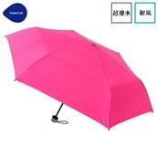 FLOATUS 超撥水傘無地 耐風折りたたみ傘 ピンク