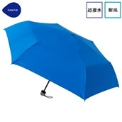 FLOATUS 超撥水傘無地 耐風折りたたみ傘 ブルー