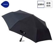 FLOATUS 超撥水傘無地 自動開閉折りたたみ傘 ブラック