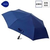 FLOATUS 超撥水傘無地 自動開閉折りたたみ傘 ネイビー