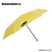 innovator 58cm軽量折りたたみ雨傘 イエロー【2020HRD】