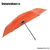 innovator 58cm軽量折りたたみ雨傘 オレンジ