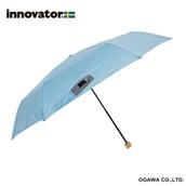 innovator 58cm軽量折りたたみ雨傘 ライトブルー