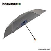 innovator 58cm軽量折りたたみ雨傘 グレー