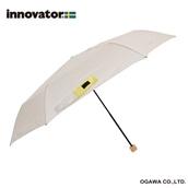 innovator 58cm軽量折りたたみ雨傘 ベージュ