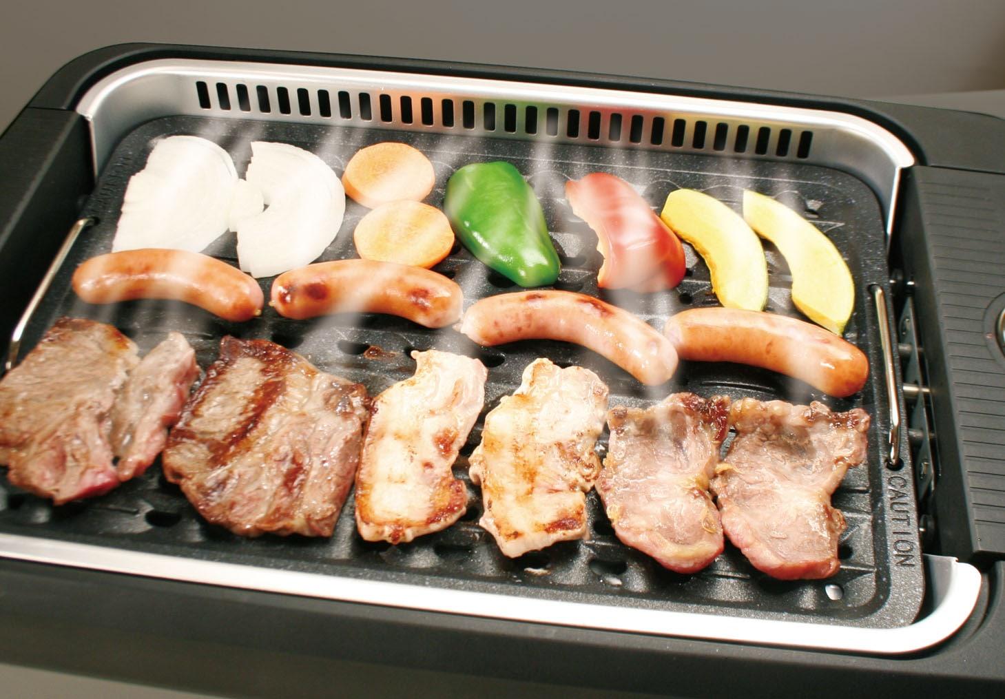 (6段階温度調節機能付き)スーパー吸煙グリル スモークリーン