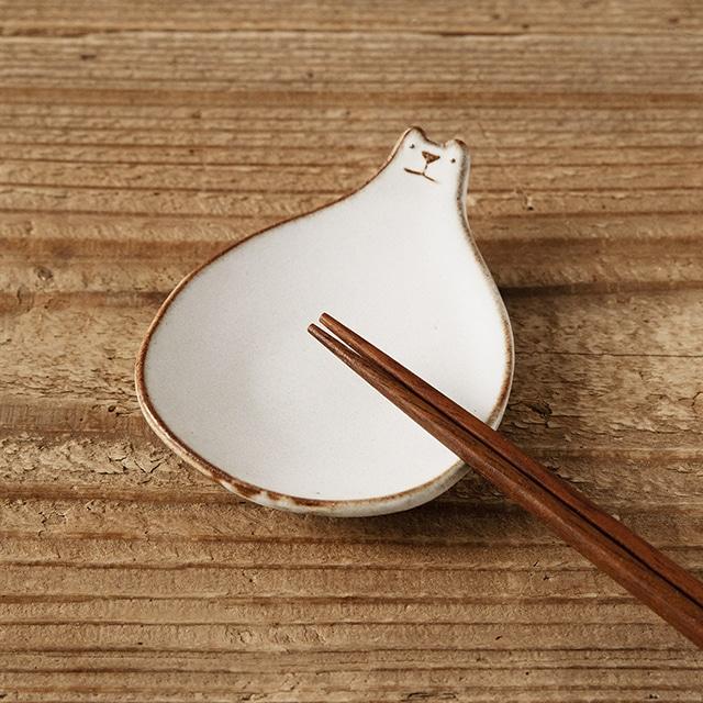 笠間焼itoga pottery豆皿(しろくま)2枚組