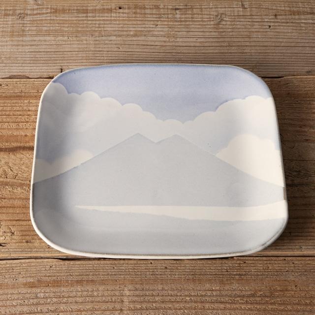 笠間焼 itoga pottery プレート大 (つくば山)
