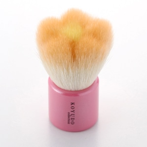 熊野筆 フラワー洗顔ブラシ オレンジ