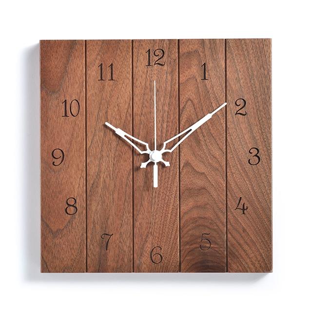 \ポイント5倍/ササキ工芸 木製壁掛け時計 ウォールナット