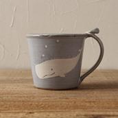 笠間焼itoga potteryマグカップ(くじら)