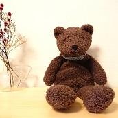 <冬グッズ2019>ファシー クマのボビー湯たんぽダークブラウン