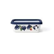 富士ホーロー ムーミン&フラワー 浅型角容器S