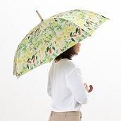 cocca 晴雨兼用長折傘フラワー ホワイトベース