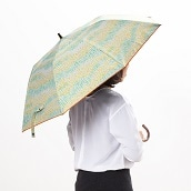 サンドレス 晴雨兼用折りたたみ傘 楽折 のはら  (レモンイエロー)【2020HRD】