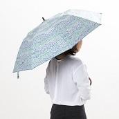 サンドレス 晴雨兼用折りたたみ傘 楽折 のはら (スカイブルー)
