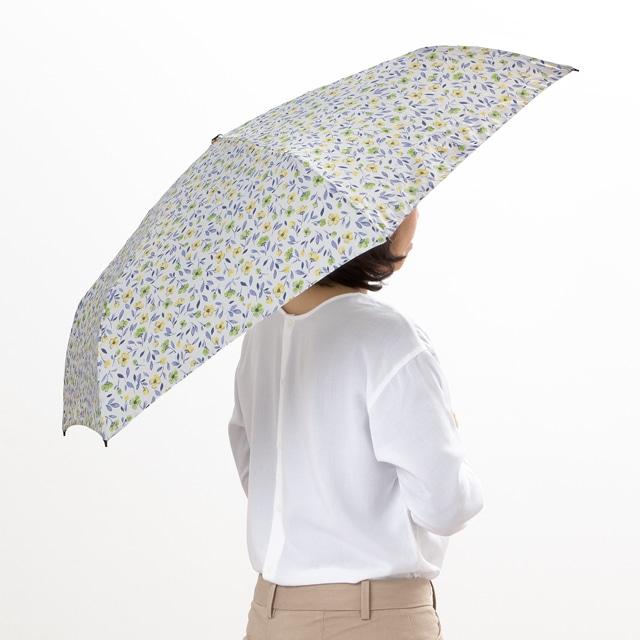 FLOATUS 超撥水UVカット折りたたみ傘 ライトグリーン