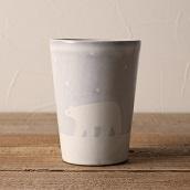 笠間焼 itoga pottery タンブラー (しろくま)