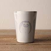 笠間焼 itoga pottery タンブラー (ふくろう)
