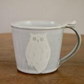 笠間焼 itoga pottery マグカップ (ふくろう)